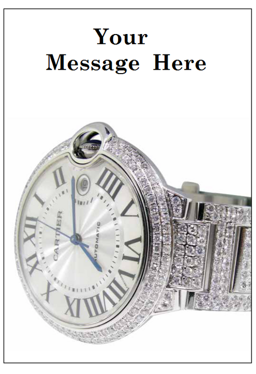"Jewelry Sale Window Signs Poster-36"" W x 48"" H-Watch"