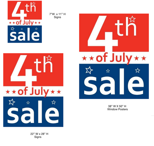 July 4th Sale Retail Sale Event Sign Kit