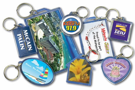 Custom Printed Acrylic Key Rings Tags