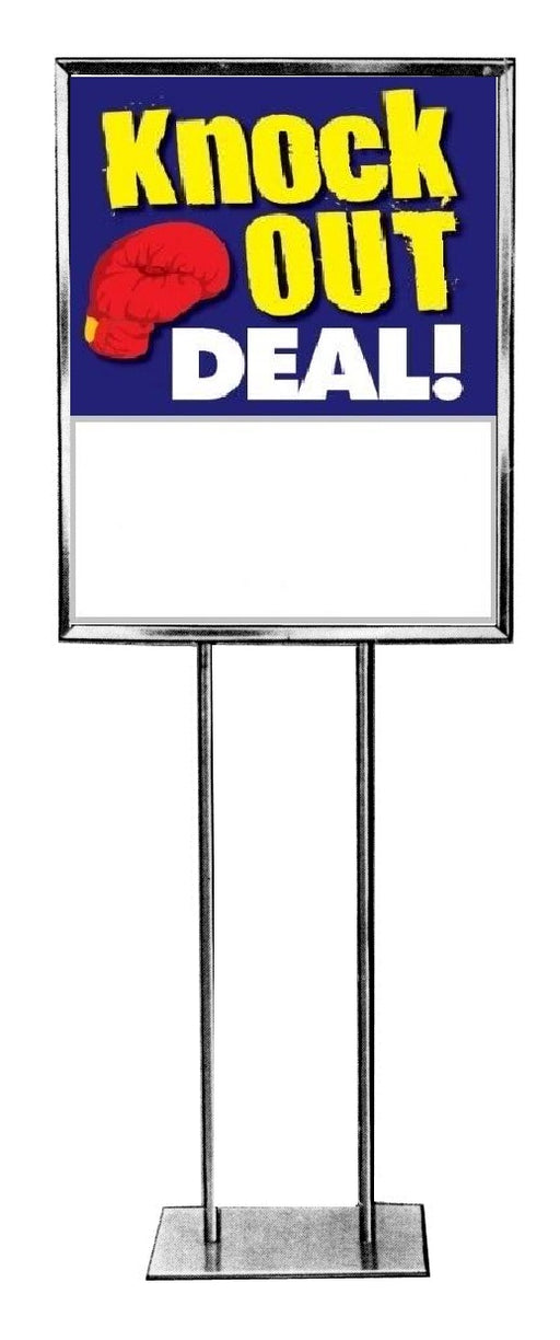 "Knock Out Deal Floor Stand Stanchion Signs-Poster 22"" x 28"""