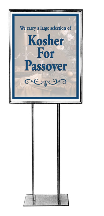 "Kosher Floor Stand Stanchion Sign 22""W x 28""H"