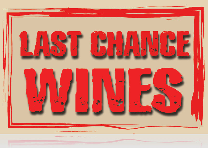 Last Chance Wine Shelf Signs-100 signs