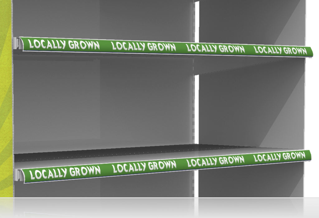 Locally Grown Price Channel Shelf Molding Strips
