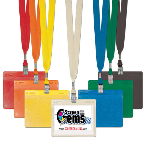 Lanyard & ID Badge Holder Sets-100