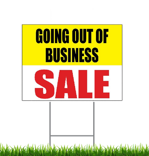 "Going Out of Business Sale Lawn Yard Signs for Retail-18"" x 24"""