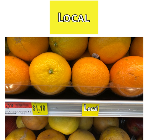 Local Information Price Channel Shelf Molding Tags