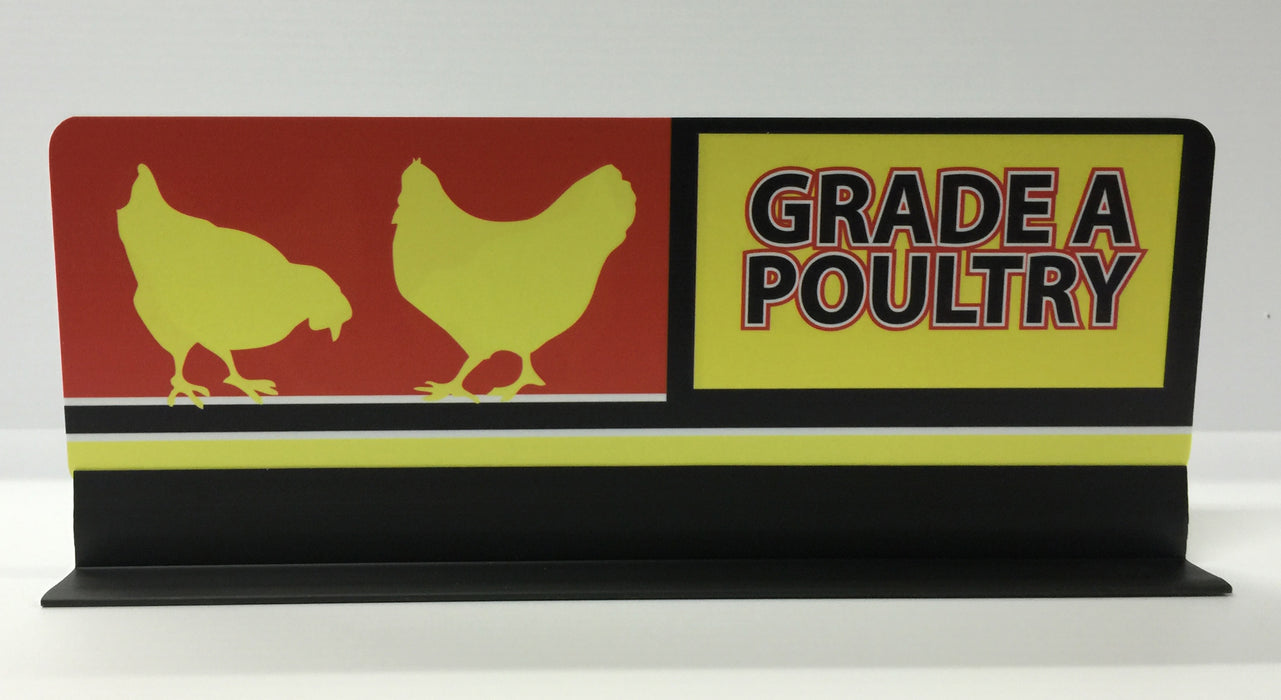 "Grade A Poultry Meat Case Dividers-12"" Long"
