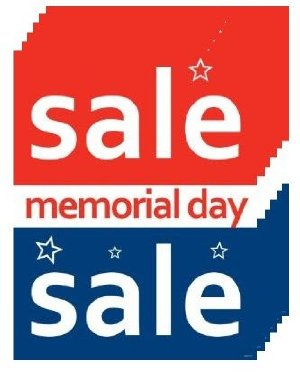 Memorial Day Sale Posters- Floor Stand-Stanchion Signs -6 pieces