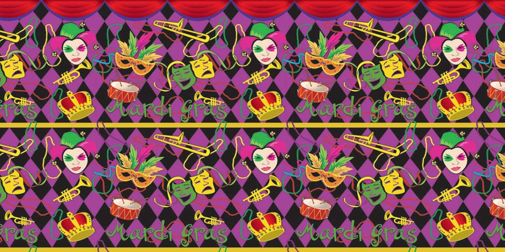 Mardi Gras Corrugated Base Pallet Wrap