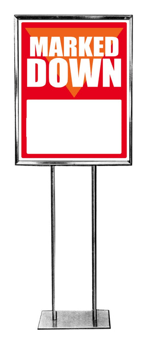 Marked Down Floor Stand Stanchion Sign