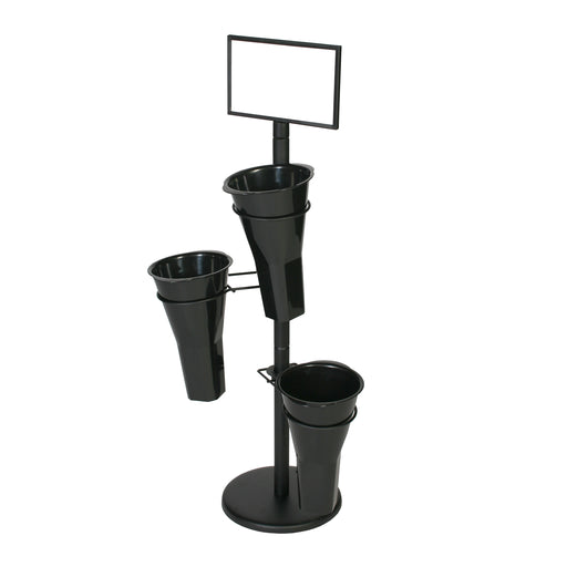 Mobile Merchandiser Fixture-Floral Stand & 3 Vases