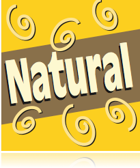 "Natural Shelf Signs- 4""W x 4""H -50 pieces"