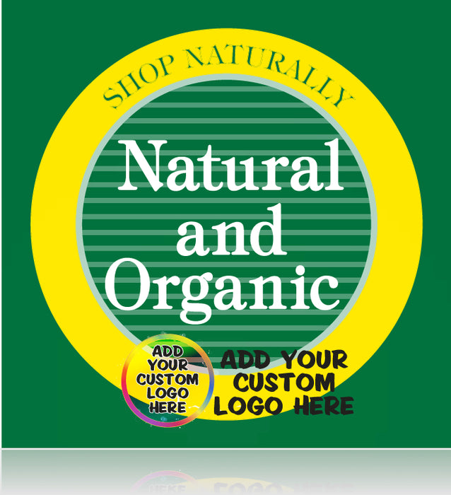 Natural and Organic Shelf Signs- Custom Printed -250 pieces