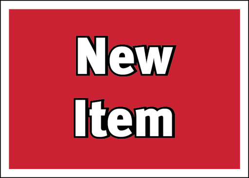 New Item Information Price Channel Shelf Molding Tags- 100 pieces