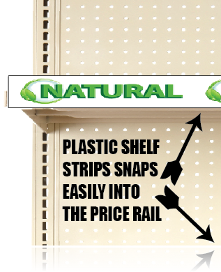 "Natural Price Channel Molding Shelf Strips-12""W x 1.25""H -20 pieces"