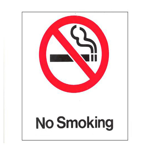 No Smoking Policy Signs- White-2 pack