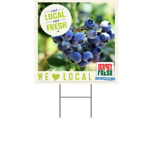 "Lawn Yard Signs for Supermarkets-Jersey Fresh 18"" x 24""- 2 pieces"