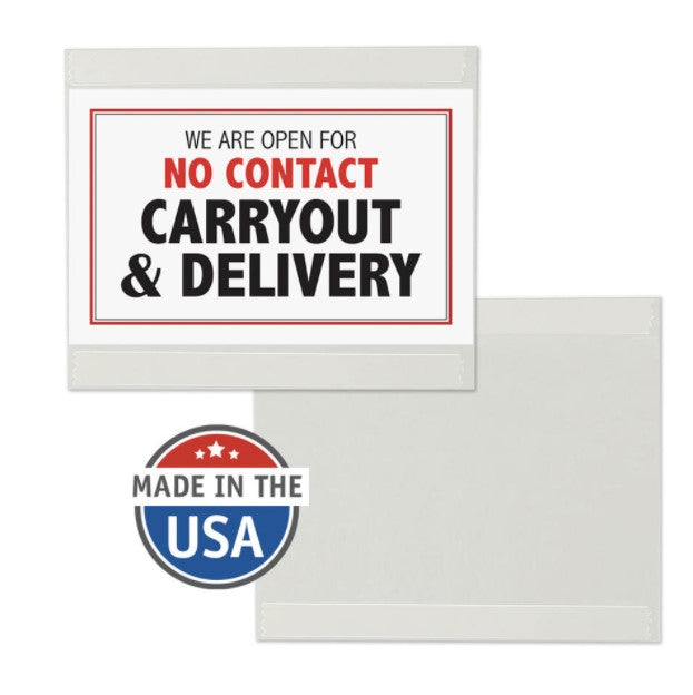 "No Tape Sign Holders for Glass-8.5""x11""-Landscape-10 pieces"