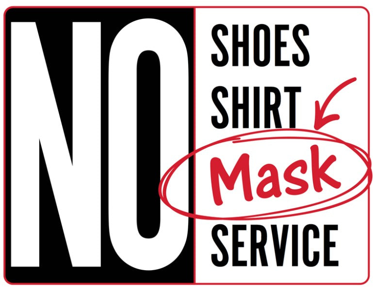 No Mask No Service  Static Clings- 2 pieces