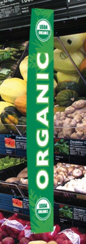 USDA Organic Aisle Invader Blade Sign