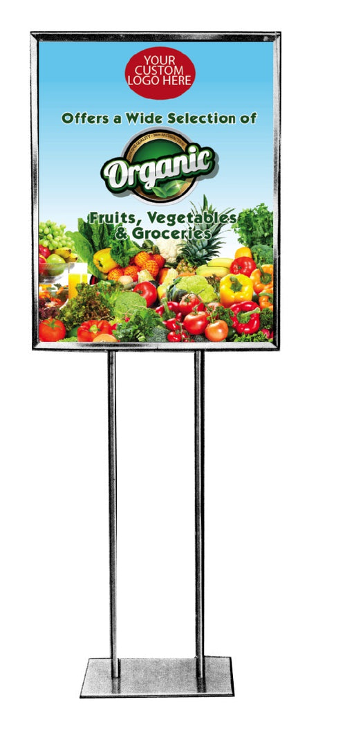 Organic Floor Stand Stanchion Signs