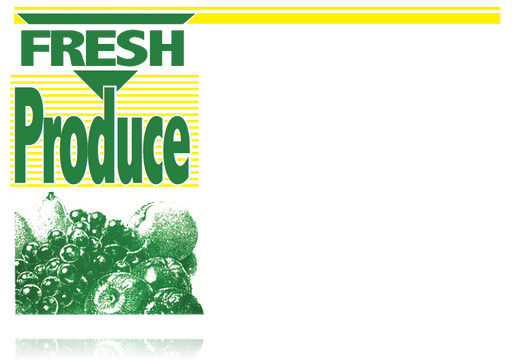 "Fresh Produce Shelf Signs 11""W x 7""H -100 price signs"
