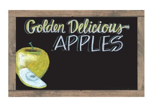 Produce Department Fruit Signs Set-Chalkboard Design with Faux Frame-185 fruit items