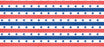 Patriotic Stripes Corrugated Base Pallet Wrap