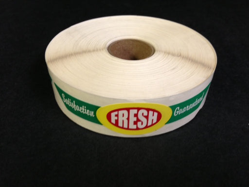 Fresh Pressure Sensitive Strap Labels- 500 labels