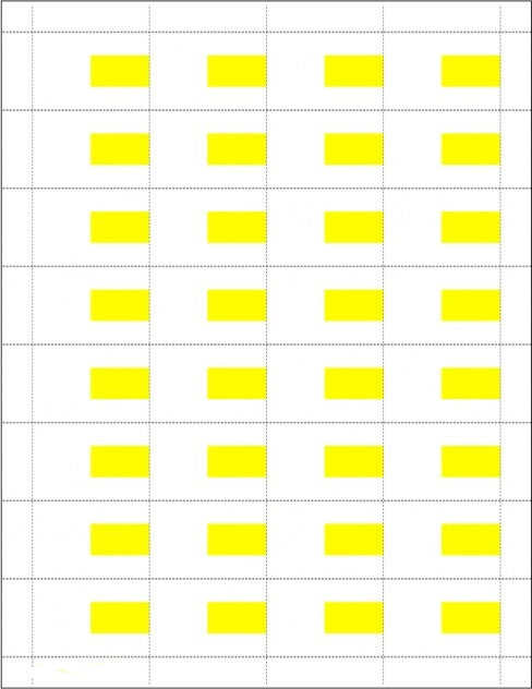 Price Tags-White & Yellow-32 tags per sheet-6400 Price Tags