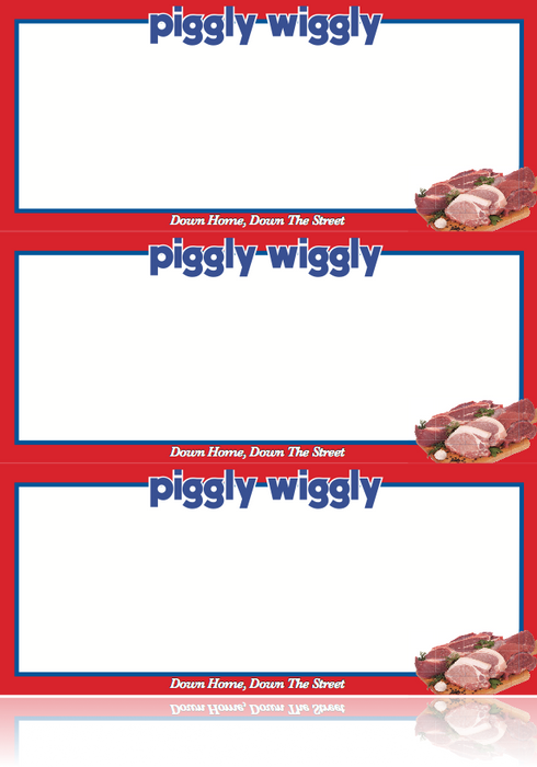 Piggly Wiggly Supermarket Meat Department