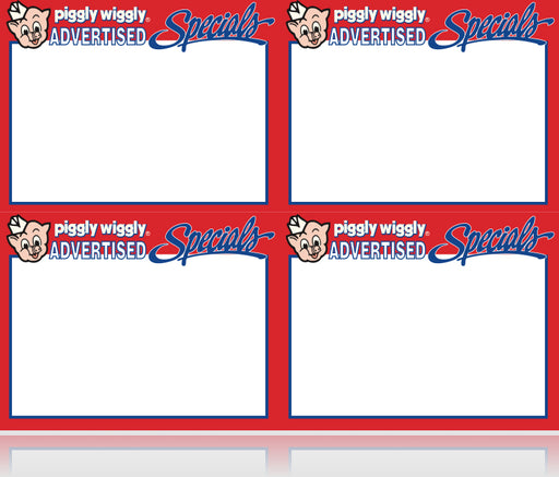 Piggly Wiggly Advertised Special Shelf Signs- Price Cards