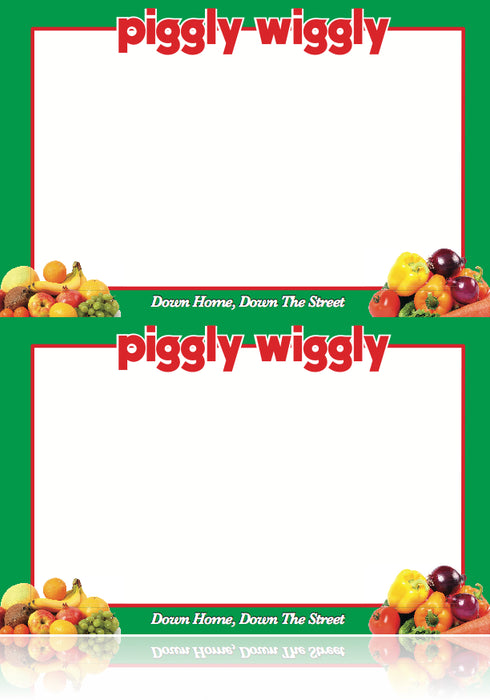 Piggly Wiggly Supermarket Produce Department Shelf Signs