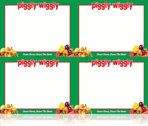 Piggly Wiggly Supermarkets Produce Department Shelf Signs-Price Cards