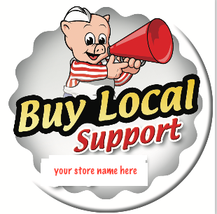 Piggly Wiggly Buttons- Buy Local Button-Custom Printed -100 pieces