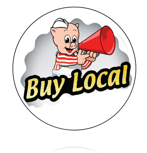 Piggly Wiggly Buttons- Buy Local Button -100 pieces