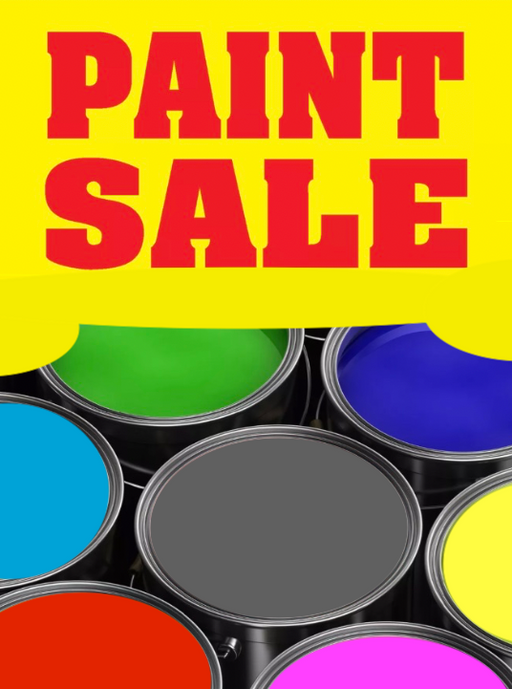 "Paint Sale Sign Posters-36"" W x 48"" H"