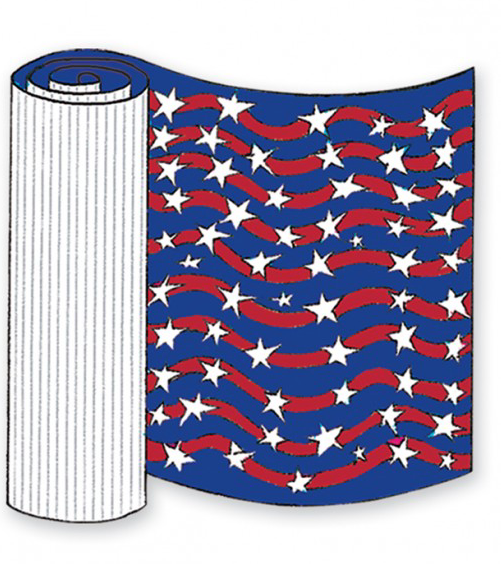 Patriotic Corrugated Base Pallet Wrap-4 Rolls
