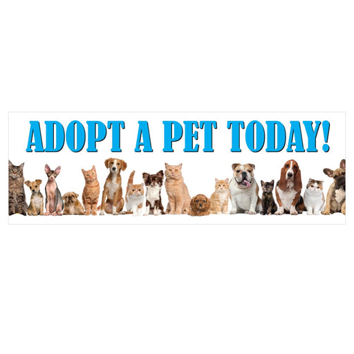 "Pet Adoption Hanging Sign-32""W x 24""H"