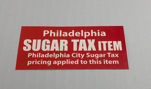 Philadelphia Sugar Tax Price Channel Shelf Strips for Supermakrets- 250 pieces