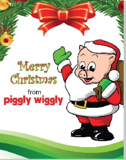 Piggly Wiggly Merry Christmas Window Sign Poster