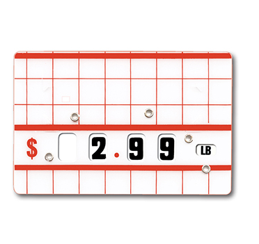 Dial a Price Tags-Red & White-5 pieces