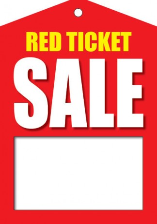 Red Ticket Sale Tags-Price Tags