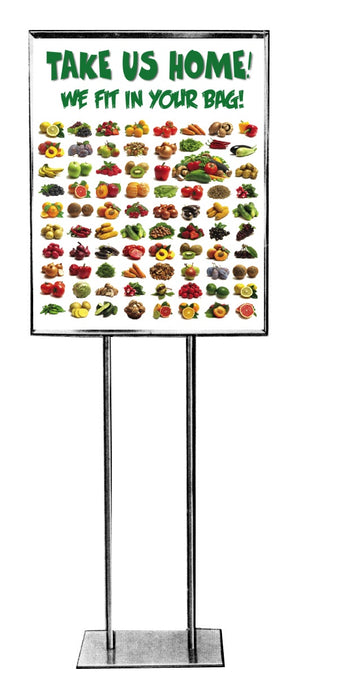 "Produce Floor Stand Stanchion Sign-22""W x 28""H"