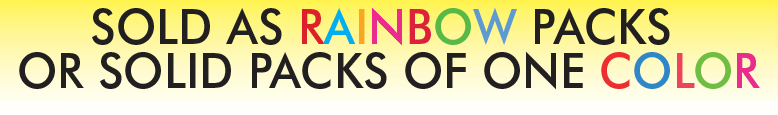"Rainbow Pack Shelf Signs- 5.5""W x 3.5""H -100 per pack - screengemsinc"