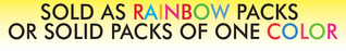 "Rainbow Pack Fluorescent Day-Glo Shelf Signs 8.5""W x 11"" H -100 per pack - screengemsinc"