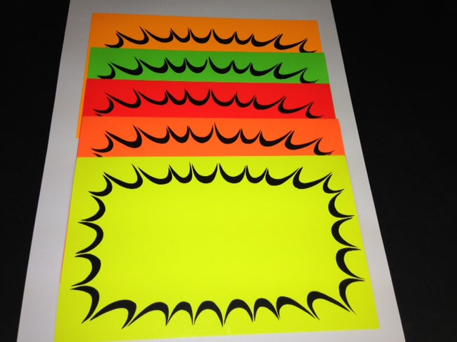 "Starburst Shelf Signs-Fluorescent Rainbow Pack 11""W x 7""H -100 signs"