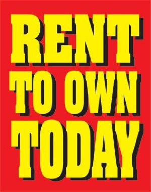 Rent to Own Today Retail Store Posters-4pieces