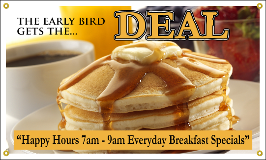 Breakfast Special Banner-Semi Custom