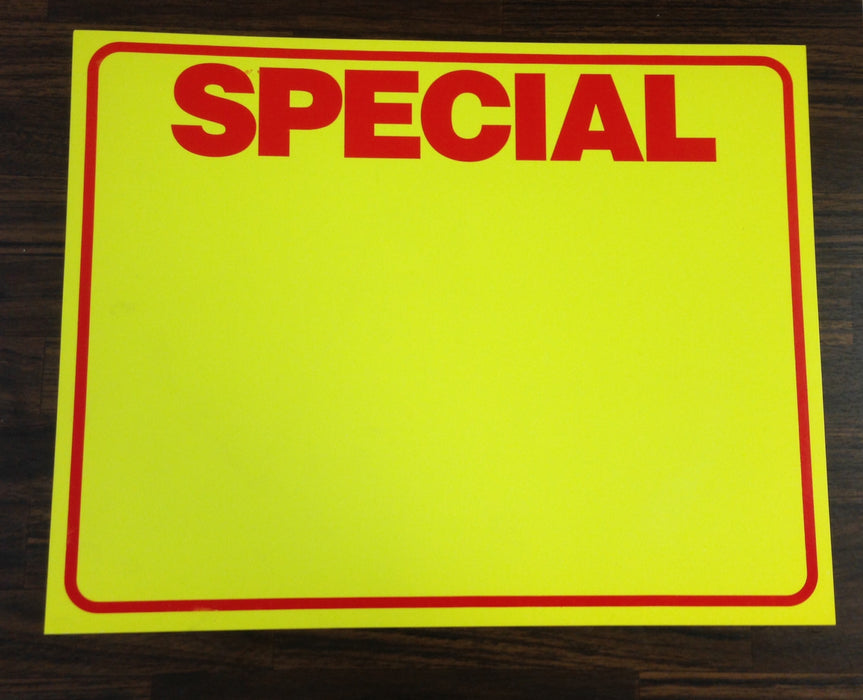 Special Shelf Sign-Retail Price Cards- 100 signs